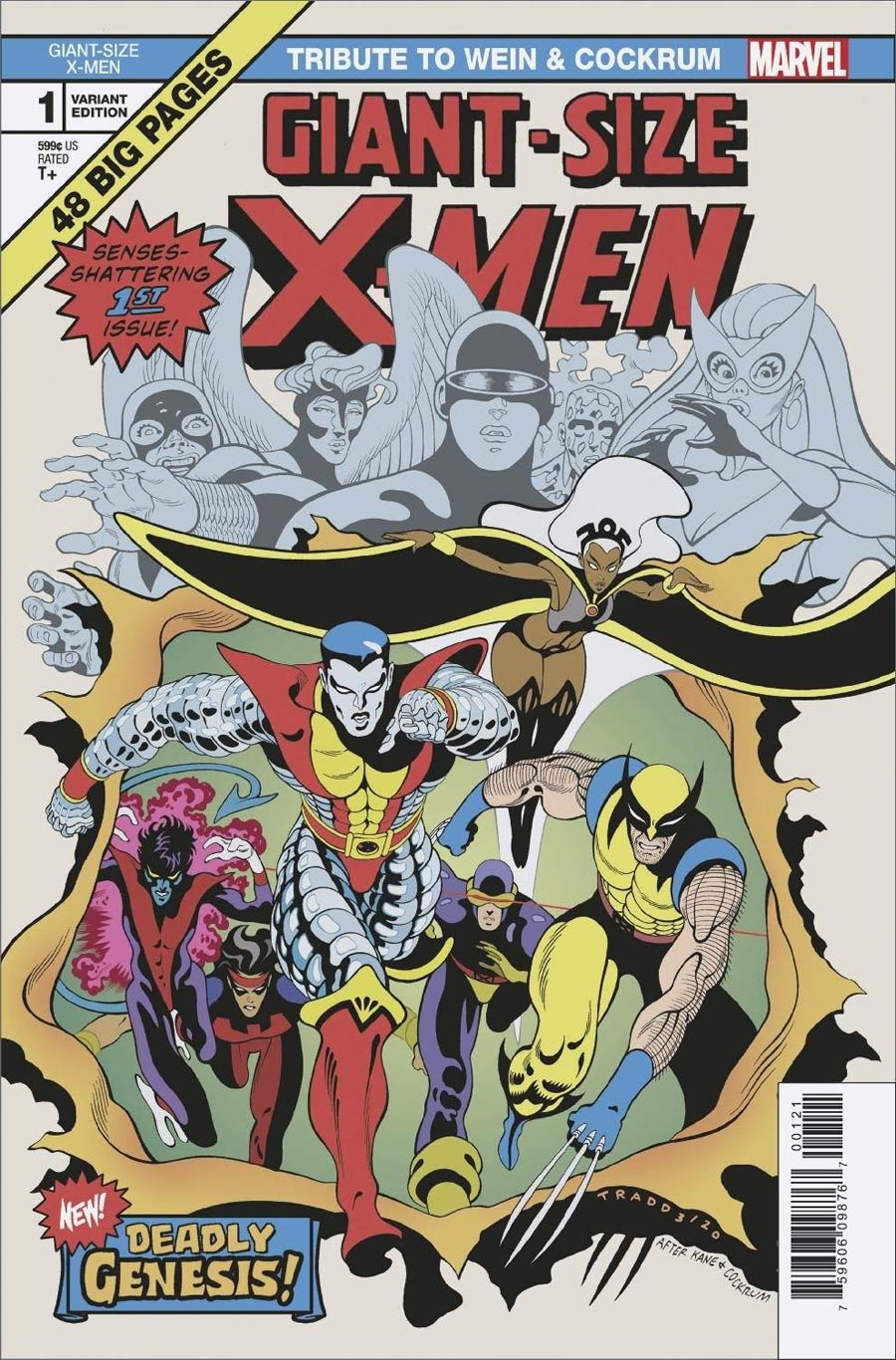 Giant-Size X-Men Tribute To Len Wein & Dave Cockrum One Shot Cover B Variant Tradd Moore Cover