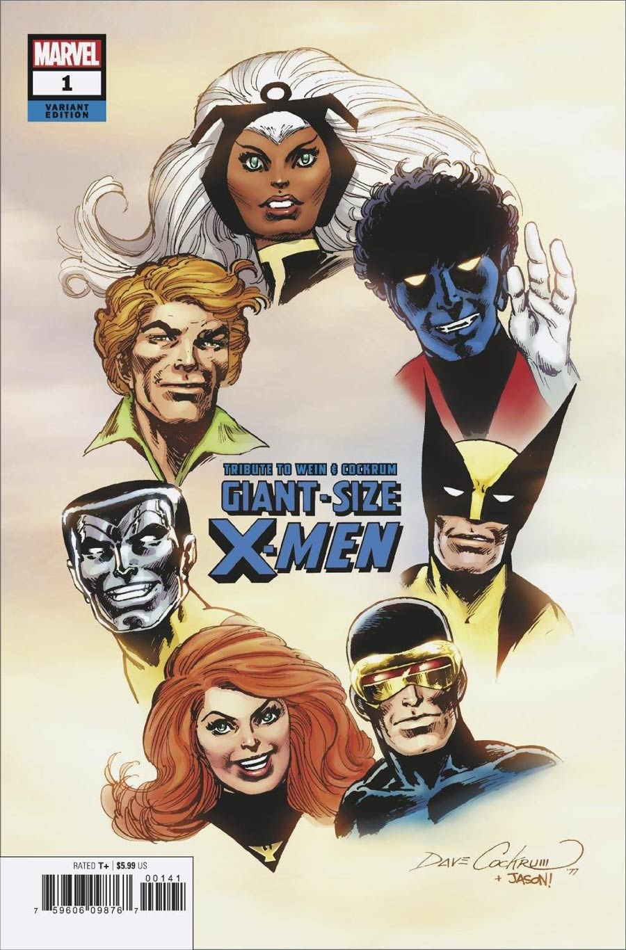 Giant-Size X-Men Tribute To Len Wein & Dave Cockrum One Shot Cover C Variant Dave Cockrum Hidden Gem Cover