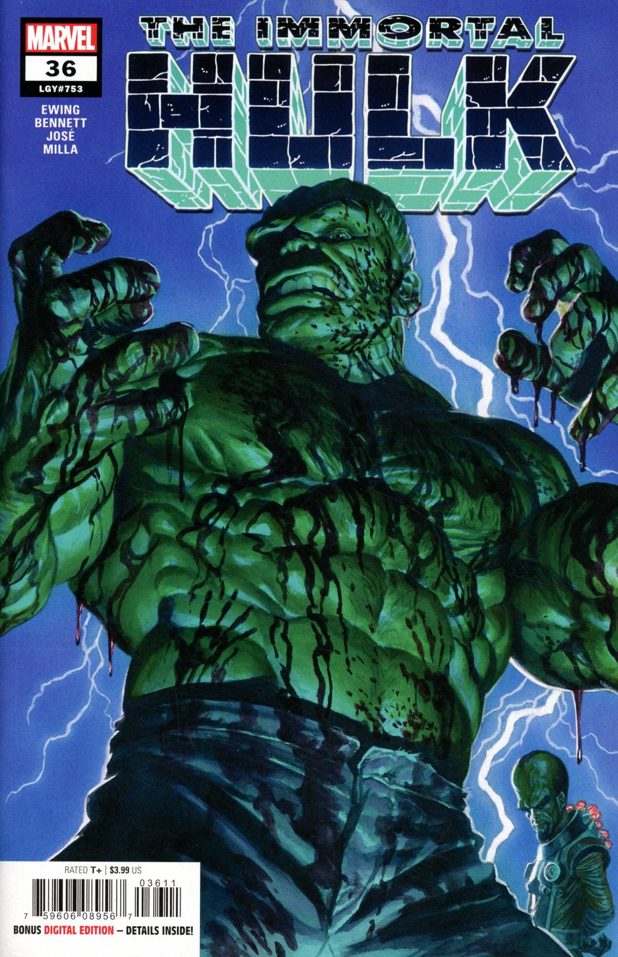 Immortal Hulk #36 Cover A Regular Alex Ross Cover