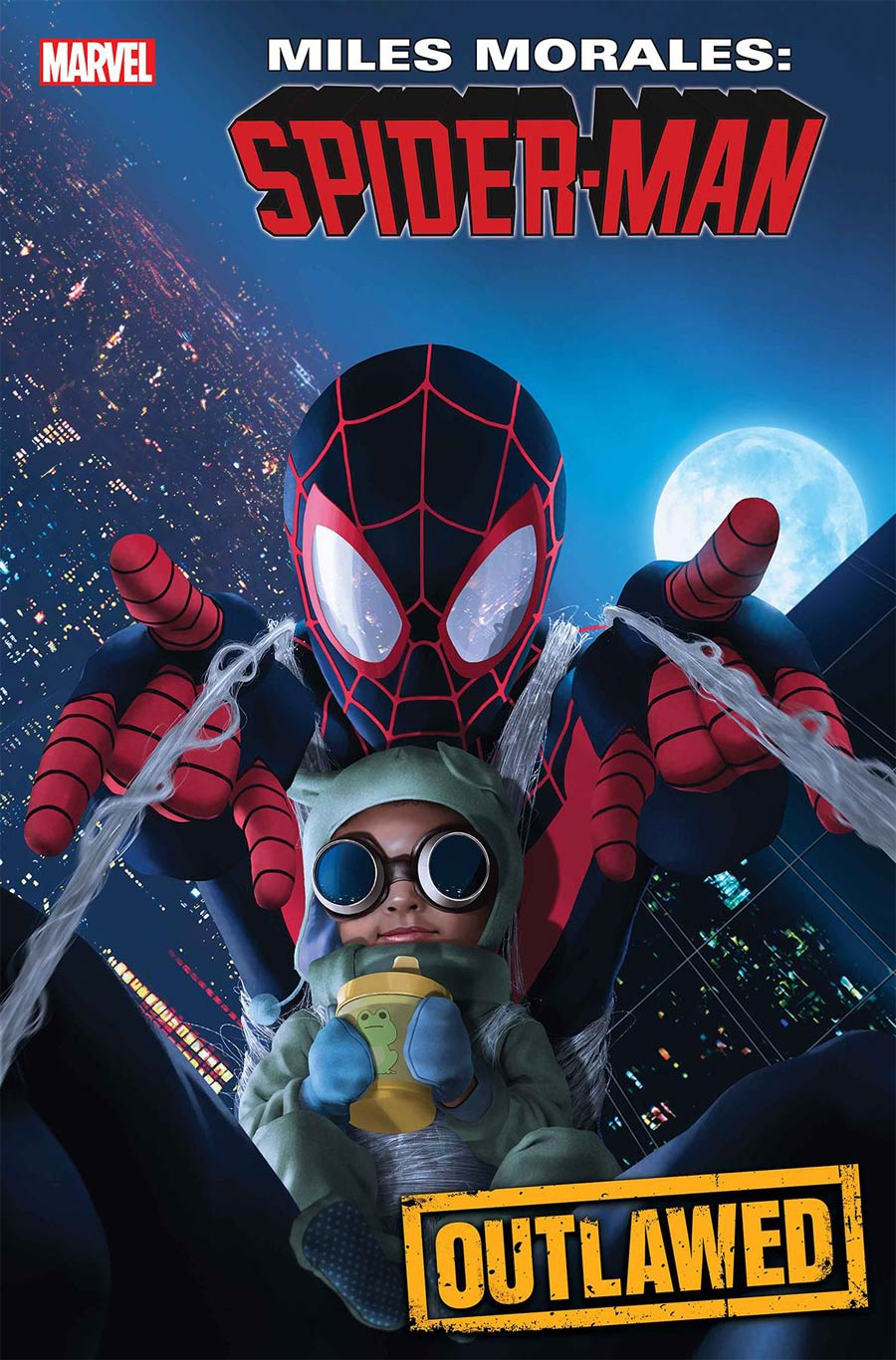 Miles Morales Spider-Man #18 Cover B Variant Rahzzah Baby Morales Cover (Outlawed Tie-In)