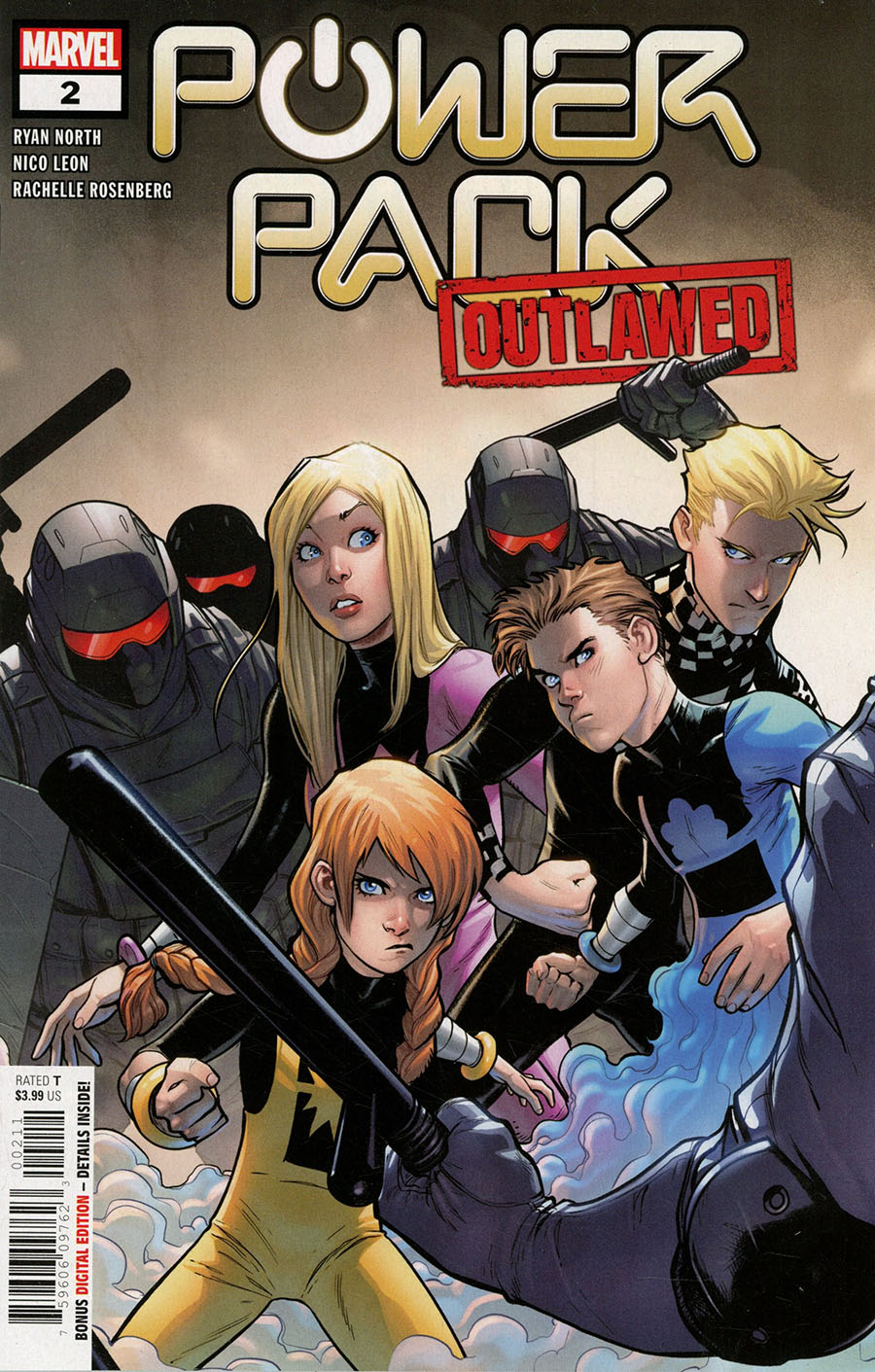 Power Pack Vol 4 #2 Cover A Regular Stefano Caselli Cover (Outlawed Tie-In)