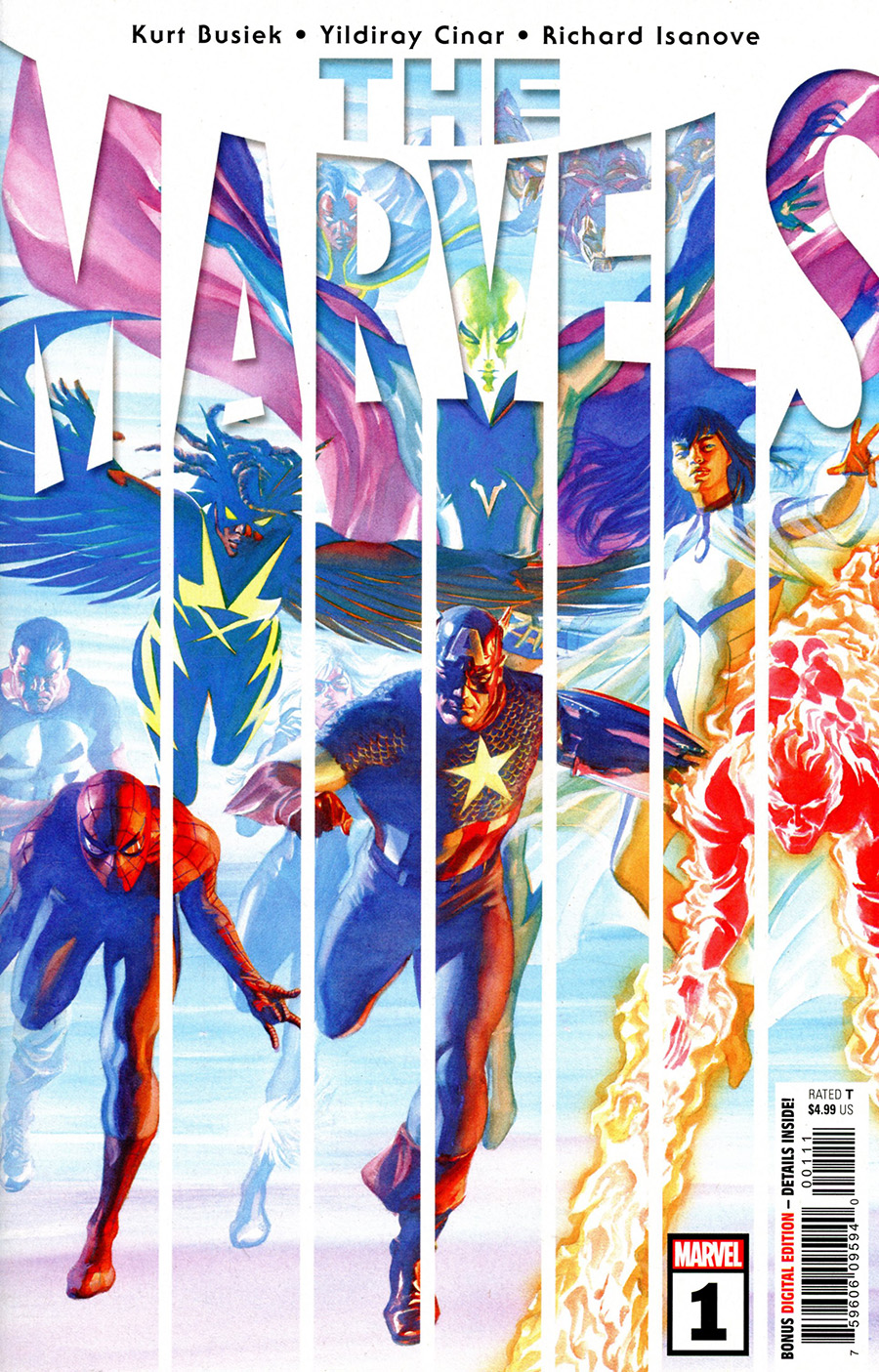 The Marvels #1 Cover A Regular Alex Ross Cover