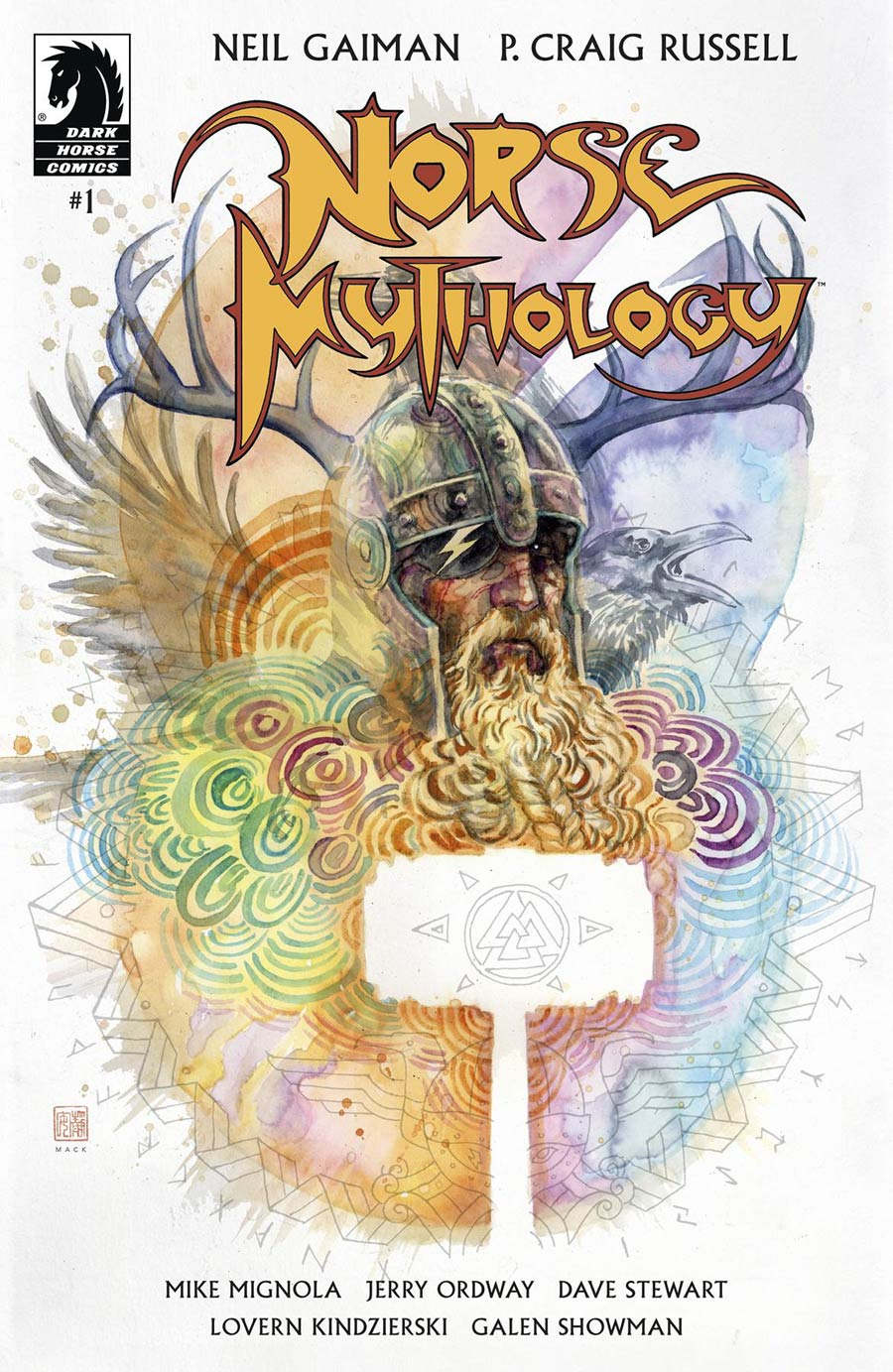 Neil Gaiman Norse Mythology #1 Cover B Variant David Mack Cover