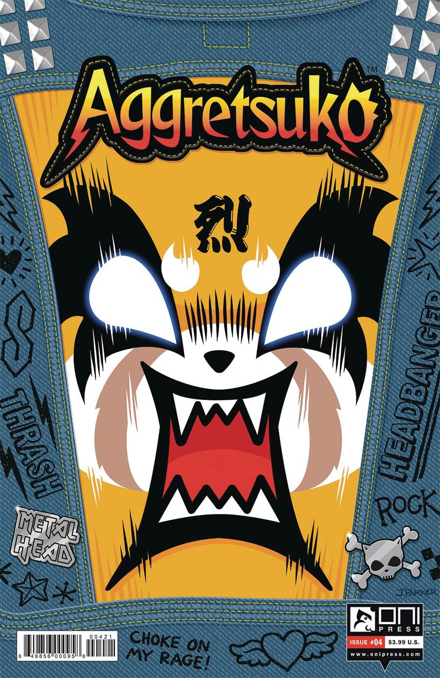 Aggretsuko #4 Cover B Variant Jeff Parker Cover
