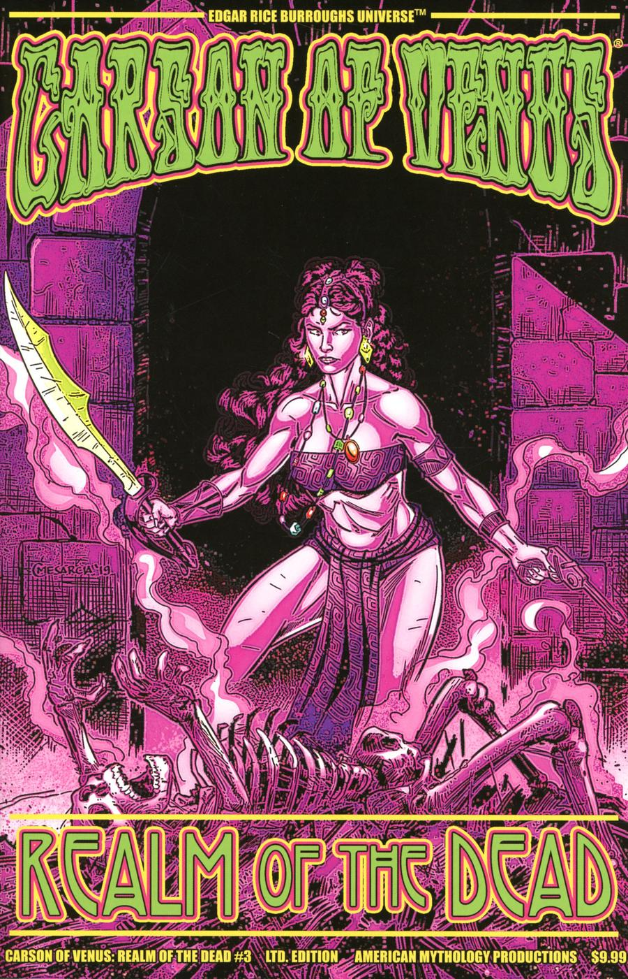 Carson Of Venus Realm Of The Dead #3 Cover B Limited Edition Cyrus Mesarcia Pulp Cover
