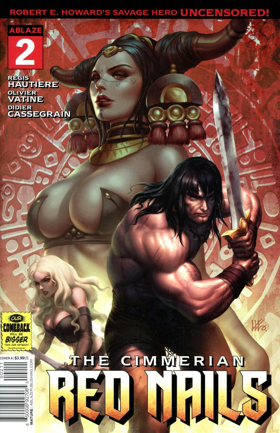 Cimmerian Red Nails #2 Cover A Regular Kendrick Lim Cover