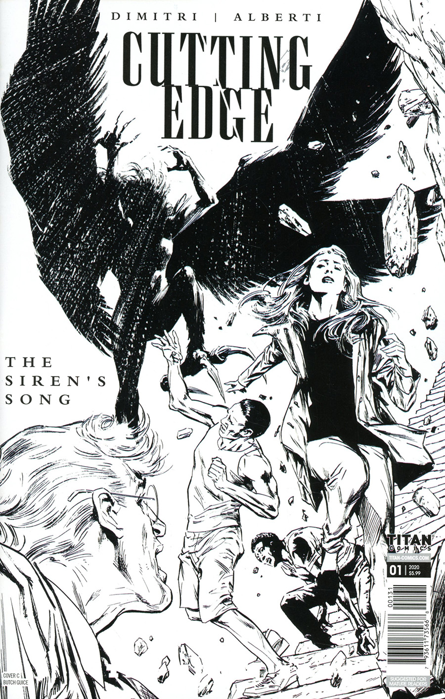 Cutting Edge Sirens Song #1 Cover C Variant Butch Guice Black & White Cover