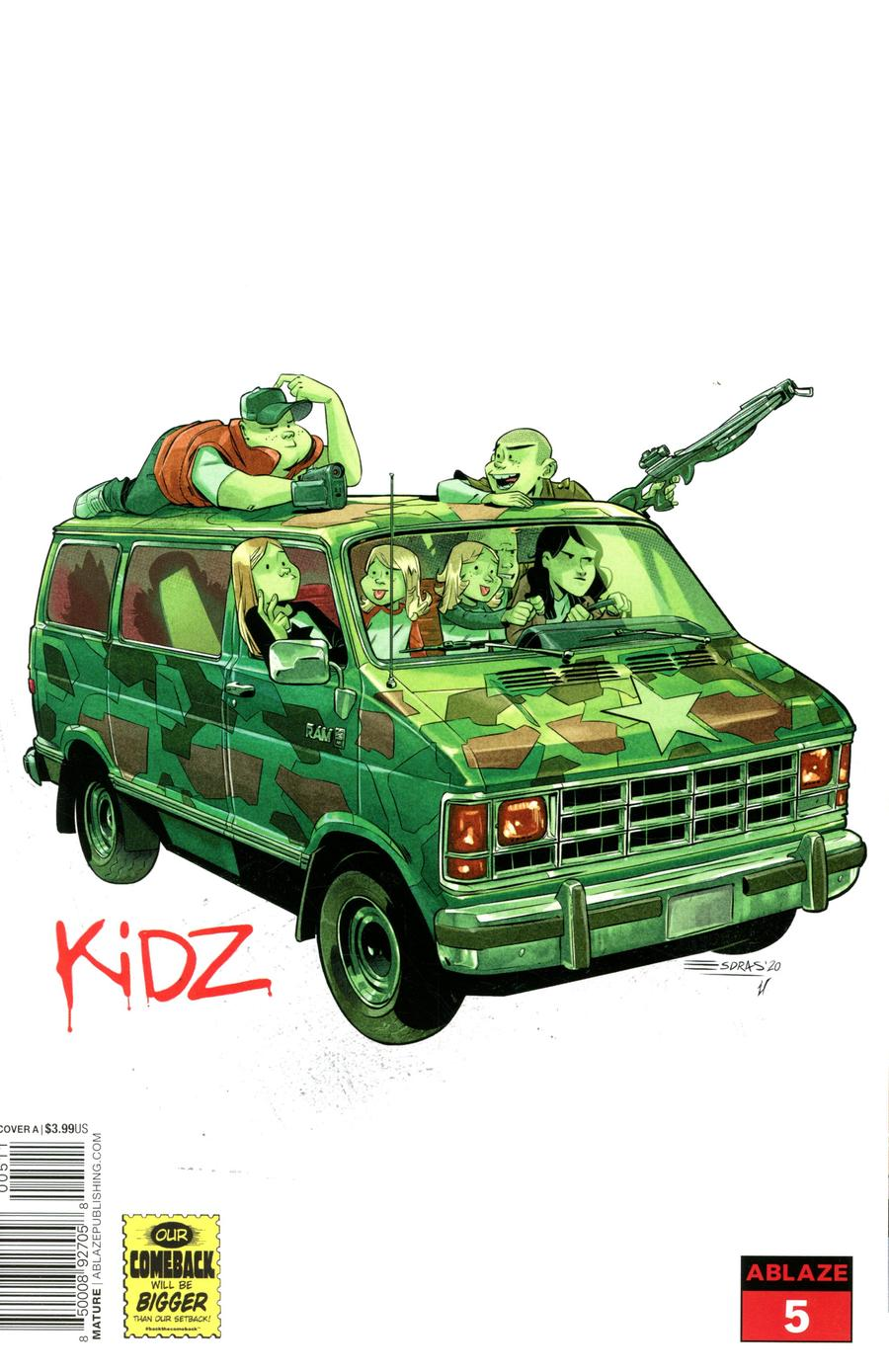 Kidz #5 Cover A Regular Esdras Cristobal Gorillaz Album Parody Cover