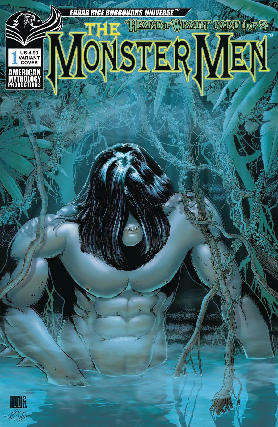 Monster Men Heart Of Wrath #1 Cover B Variant Mike Wolver Cover