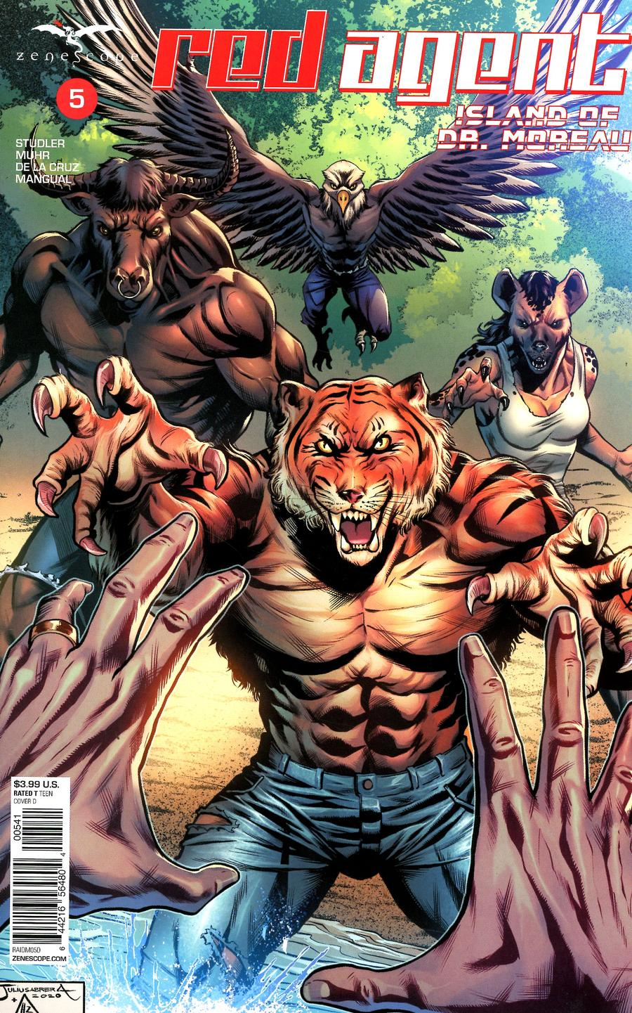 Grimm Fairy Tales Presents Red Agent Island Of Dr Moreau #5 Cover D Julius Abrera