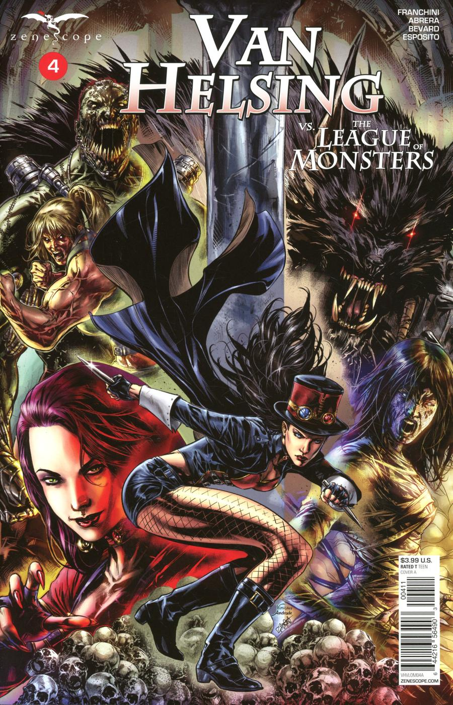 Grimm Fairy Tales Presents Van Helsing vs The League Of Monsters #4 Cover A Caanan White