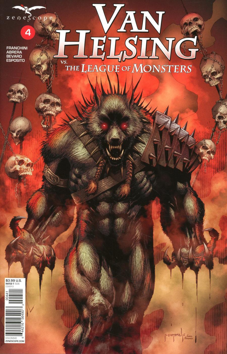 Grimm Fairy Tales Presents Van Helsing vs The League Of Monsters #4 Cover D Jason Metcalf