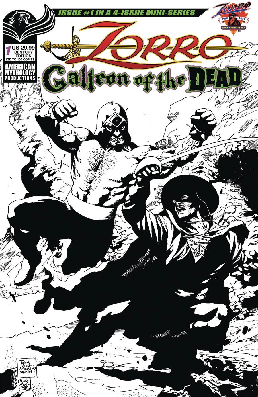 Zorro Galleon Of The Dead #1 Cover D Limited Edition Roy Allan Martinez Century Cover