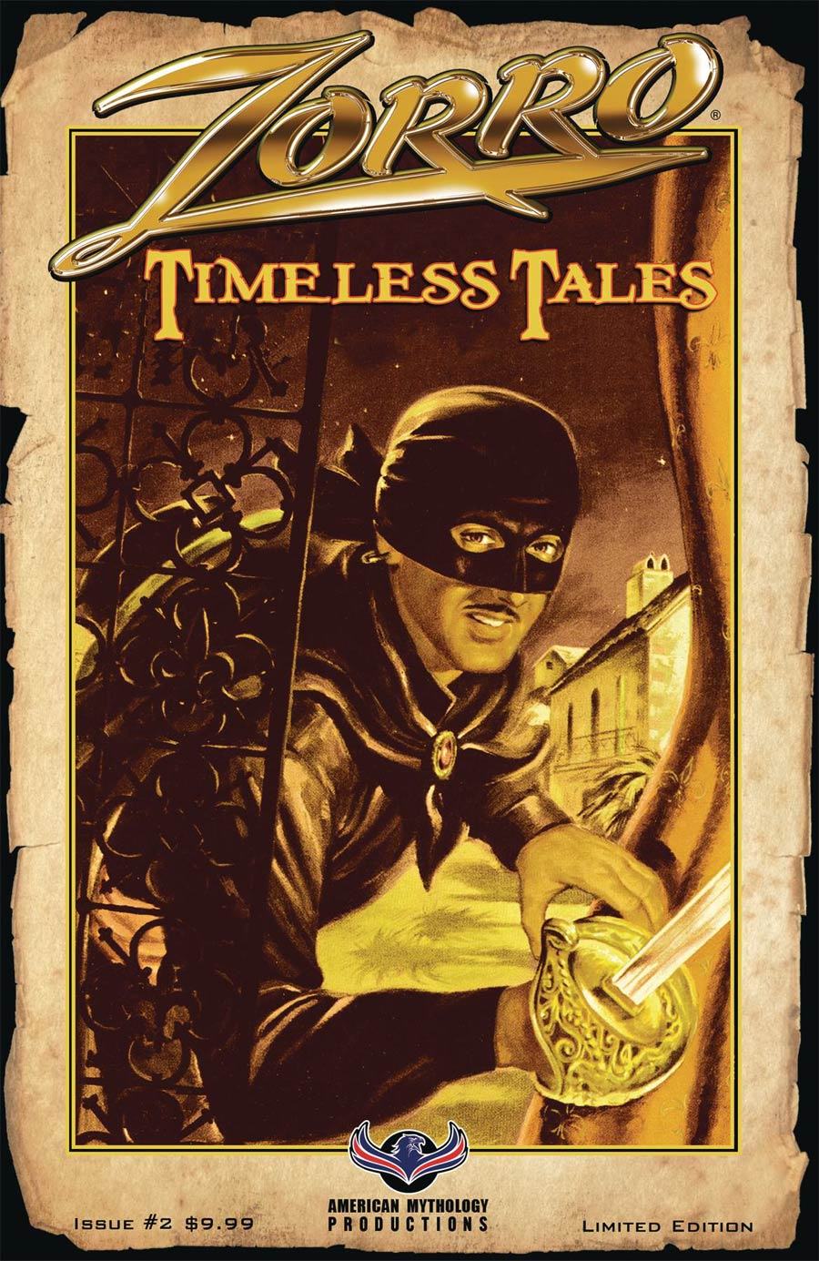 Zorro Timeless Tales #2 Cover B Limited Edition Pulp Cover