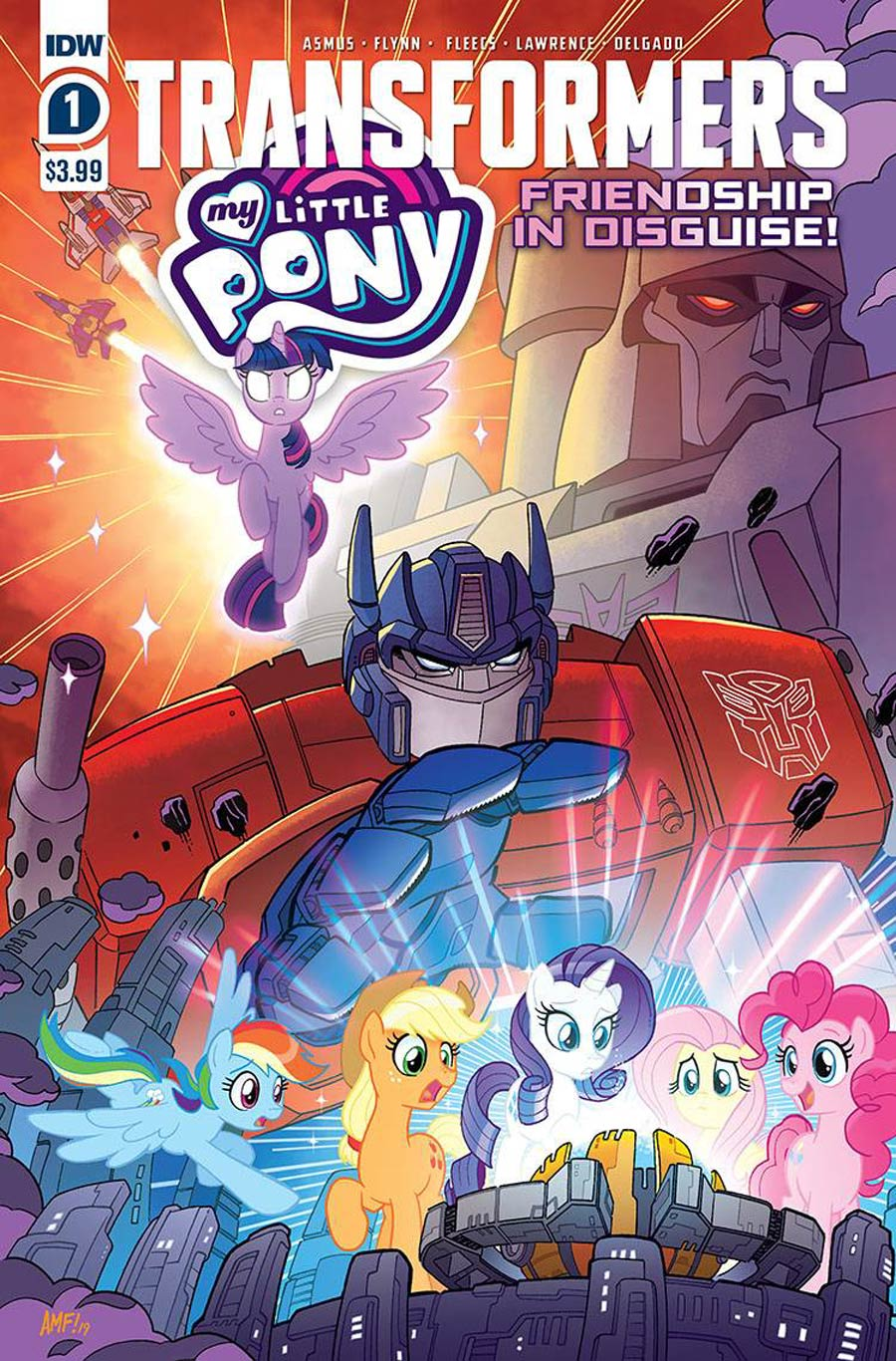 My Little Pony Transformers Friendship In Disguise #1 Cover A 1st Ptg Regular Tony Fleecs Cover