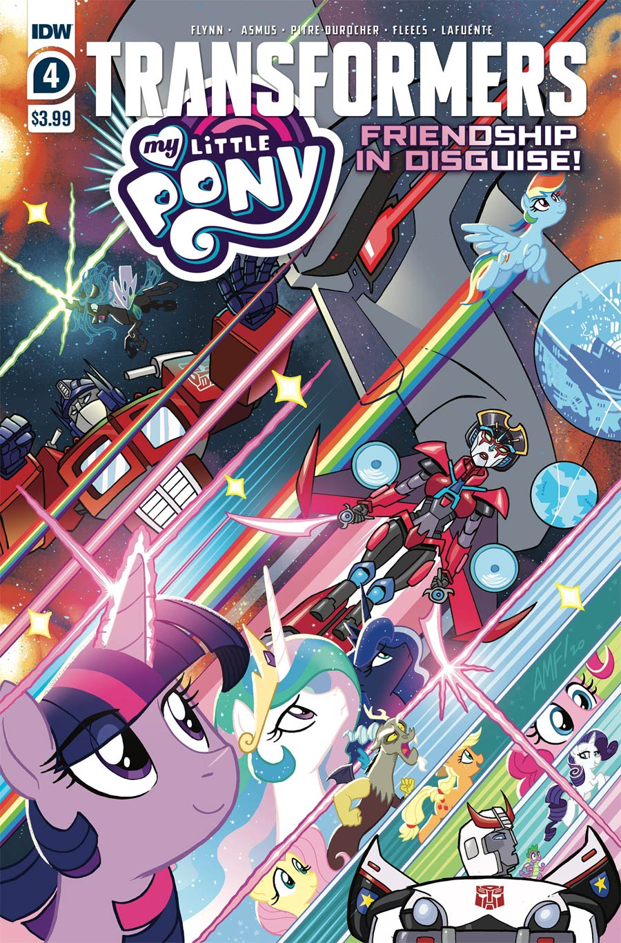 My Little Pony Transformers Friendship In Disguise #4 Cover A Regular Tony Fleecs Cover