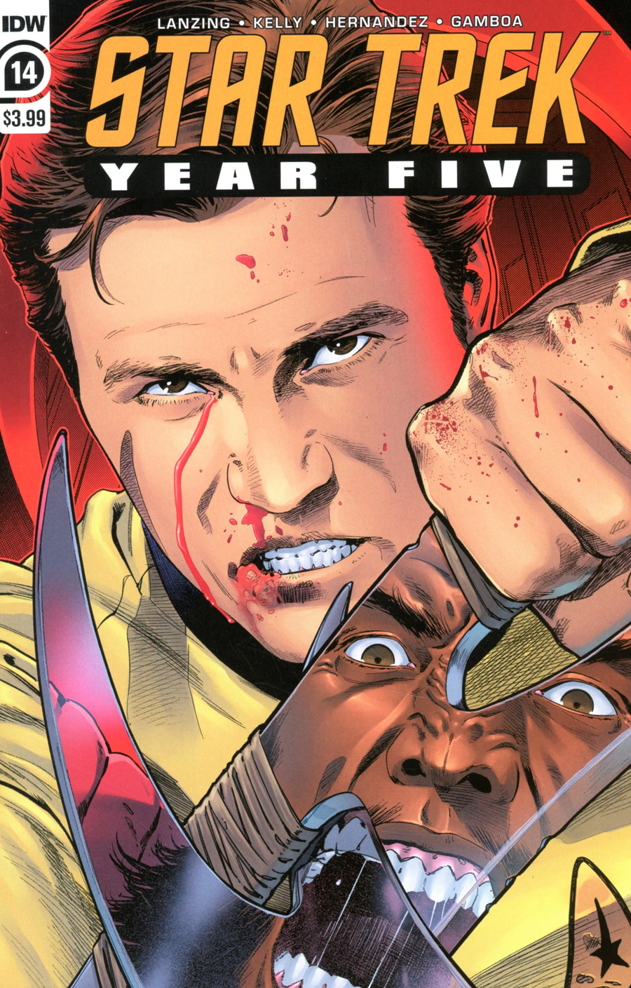 Star Trek Year Five #14 Cover A Regular Stephen Thompson Cover