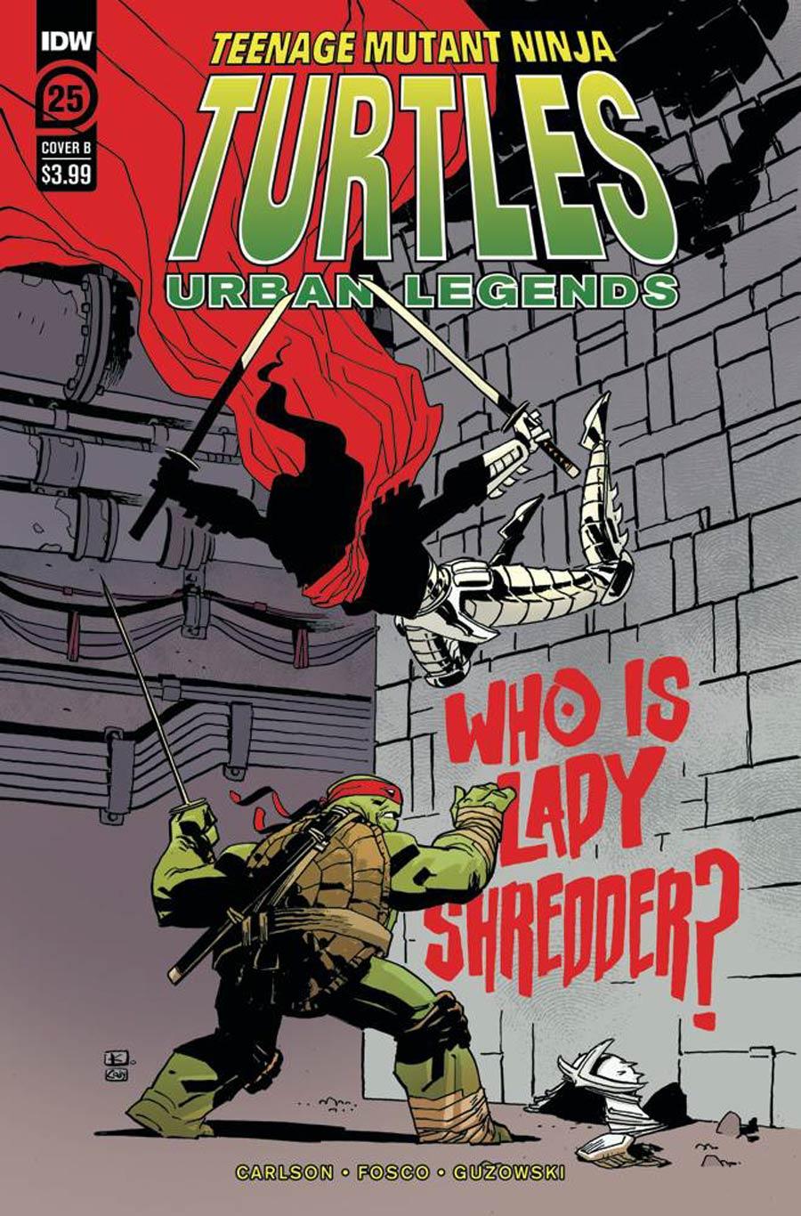 Teenage Mutant Ninja Turtles Urban Legends #25 Cover B Variant Andy Kuhn Cover