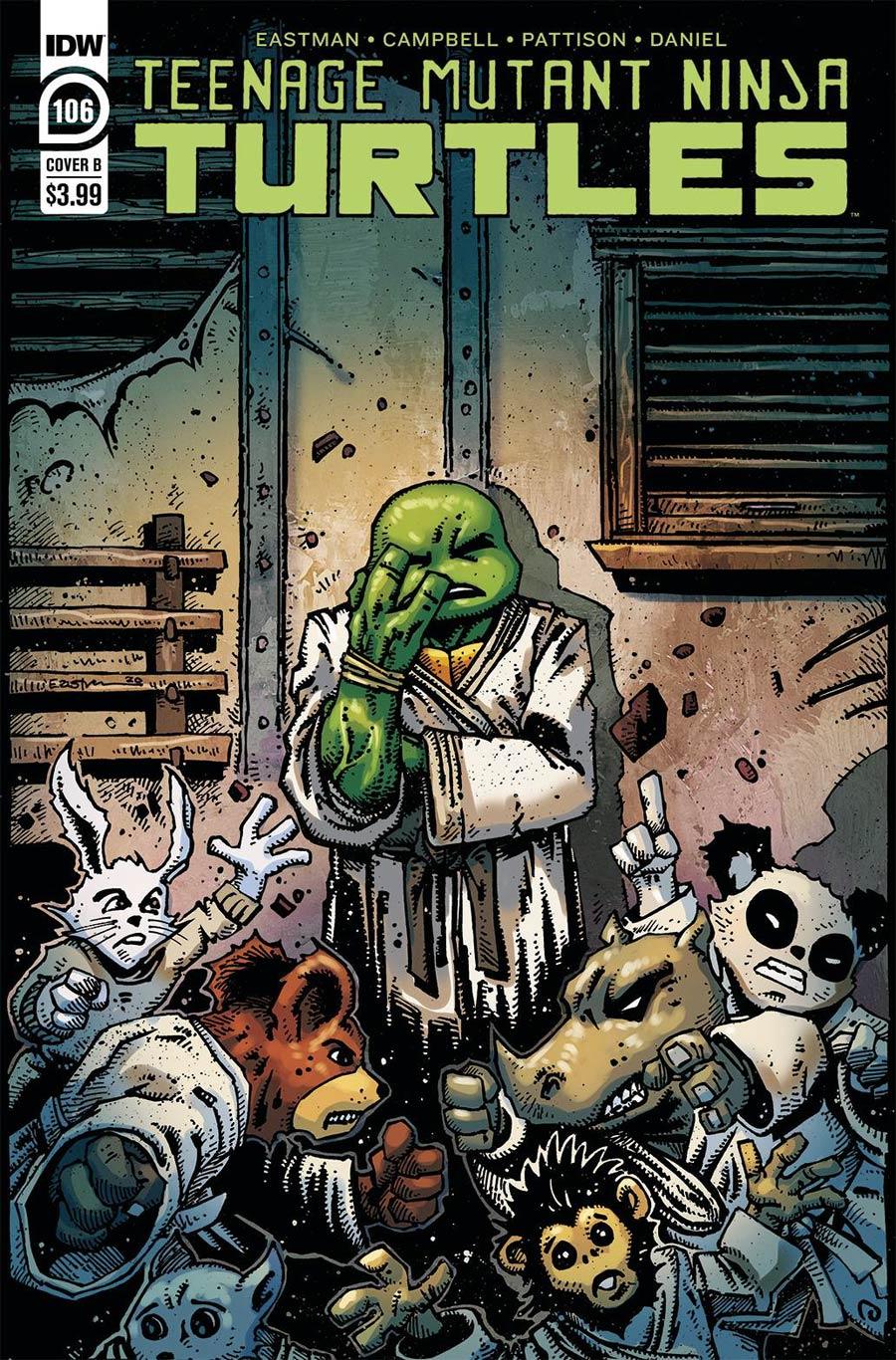 Teenage Mutant Ninja Turtles Vol 5 #106 Cover B Variant Kevin Eastman Cover