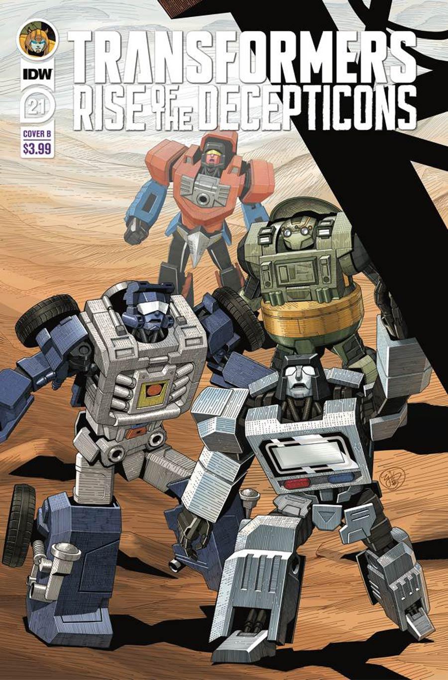 Transformers Vol 4 #21 Cover B Variant EJ Su Cover