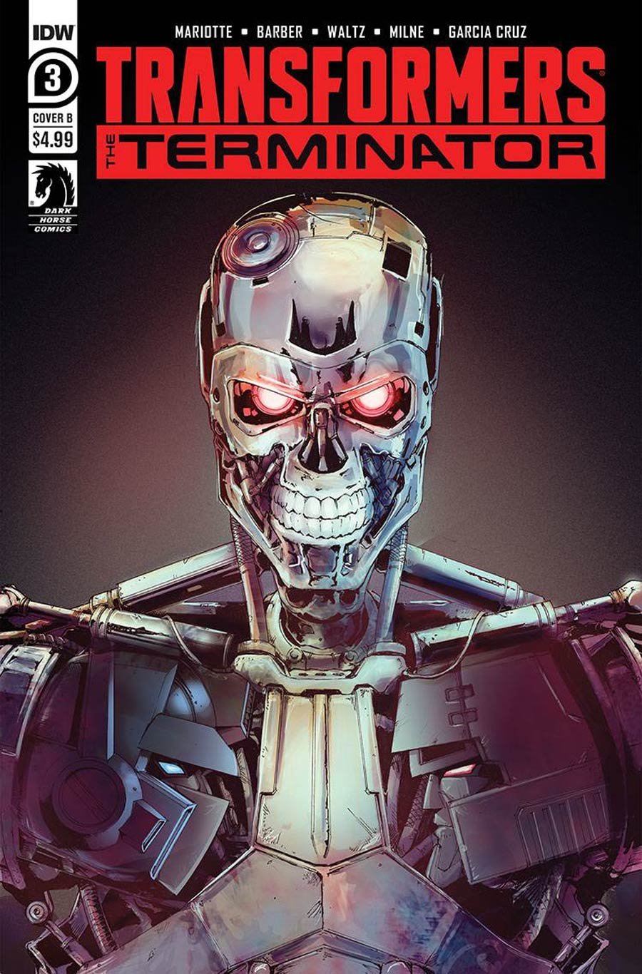 Transformers vs Terminator #3 Cover B Variant Andrew Griffith Cover