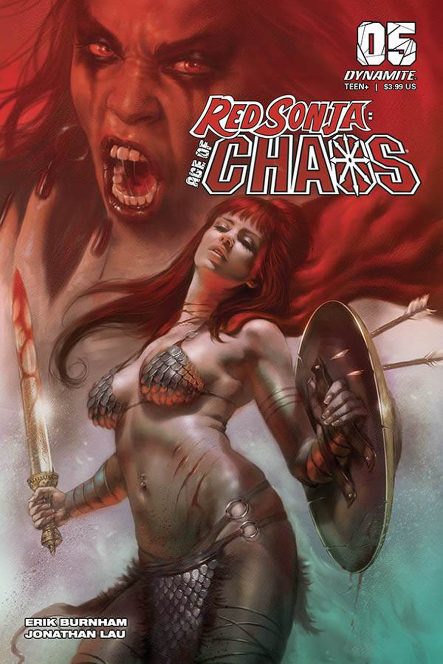 Red Sonja Age Of Chaos #5 Cover A Regular Lucio Parrillo Cover