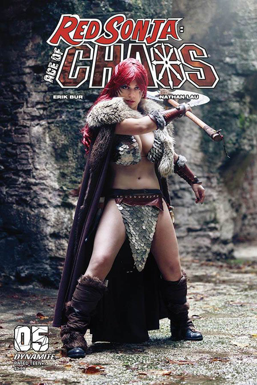 Red Sonja Age Of Chaos #5 Cover E Variant Margherita Sabattini Cosplay Photo Cover
