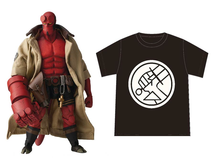 Hellboy BPRD Shirt Version 1/12 Scale Previews Exclusive Action Figure