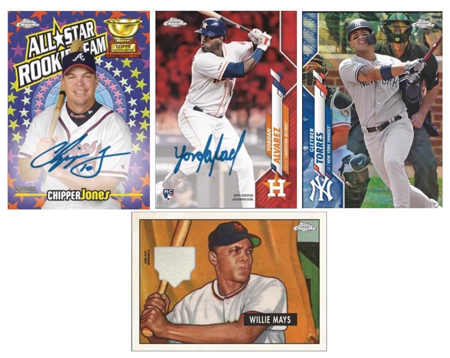 Topps 2020 Chrome Baseball Jumbo Trading Cards Box