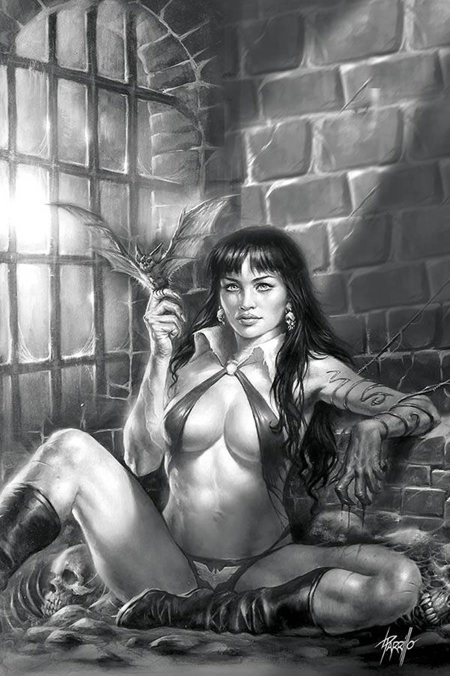 Vampirella Vol 8 #11 Cover T Incentive Lucio Parrillo Black & White Virgin Cover