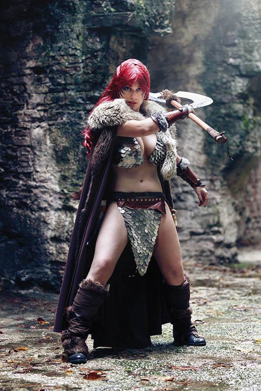 Red Sonja Age Of Chaos #5 Cover P Incentive Margherita Sabattini Cosplay Photo Virgin Cover