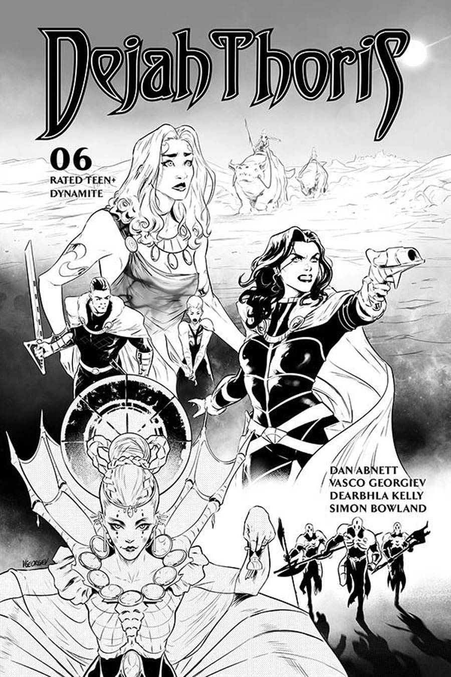 Dejah Thoris Vol 3 #6 Cover N Incentive Vasco Georgiev Black & White Cover