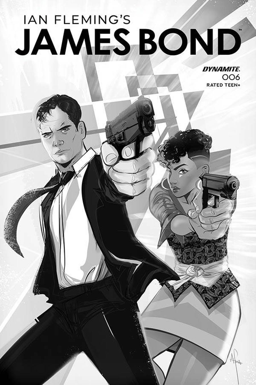 James Bond Vol 3 #6 Cover B Incentive Afua Richardson Black & White Cover