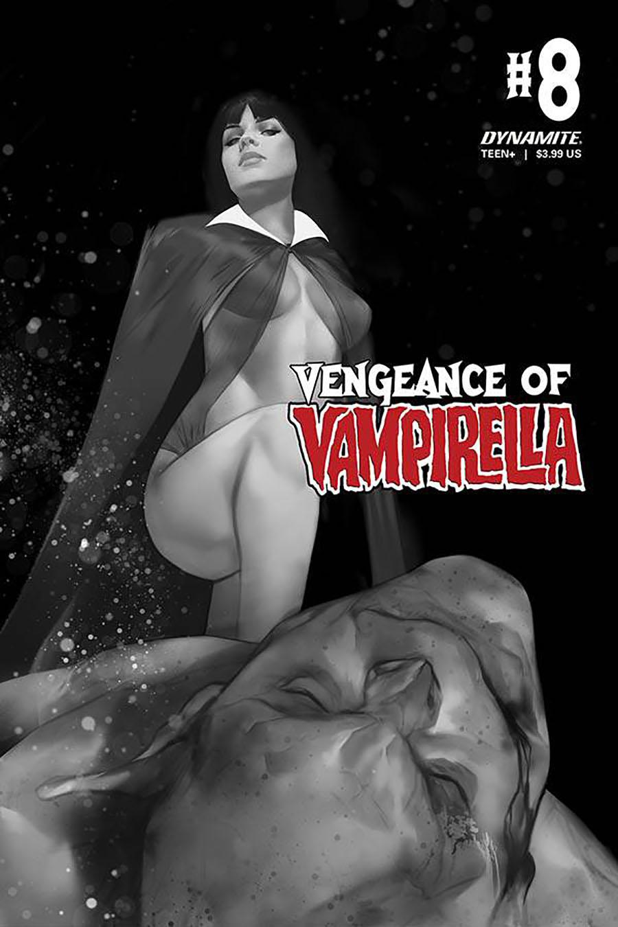 Vengeance Of Vampirella Vol 2 #8 Cover K Incentive Ben Oliver Black & White Cover