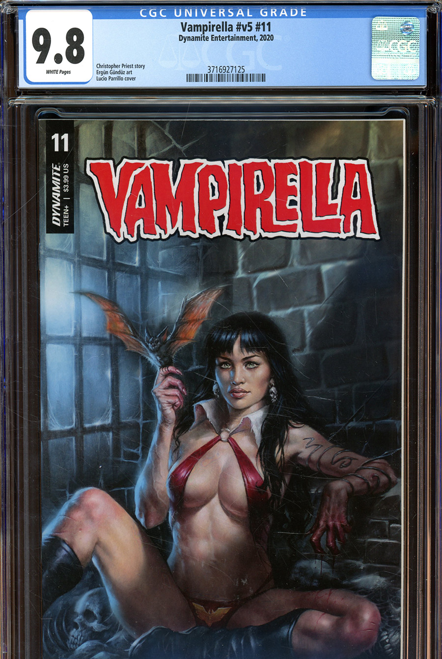 Vampirella Vol 8 #11 Cover X Regular Lucio Parrillo Cover CGC Graded