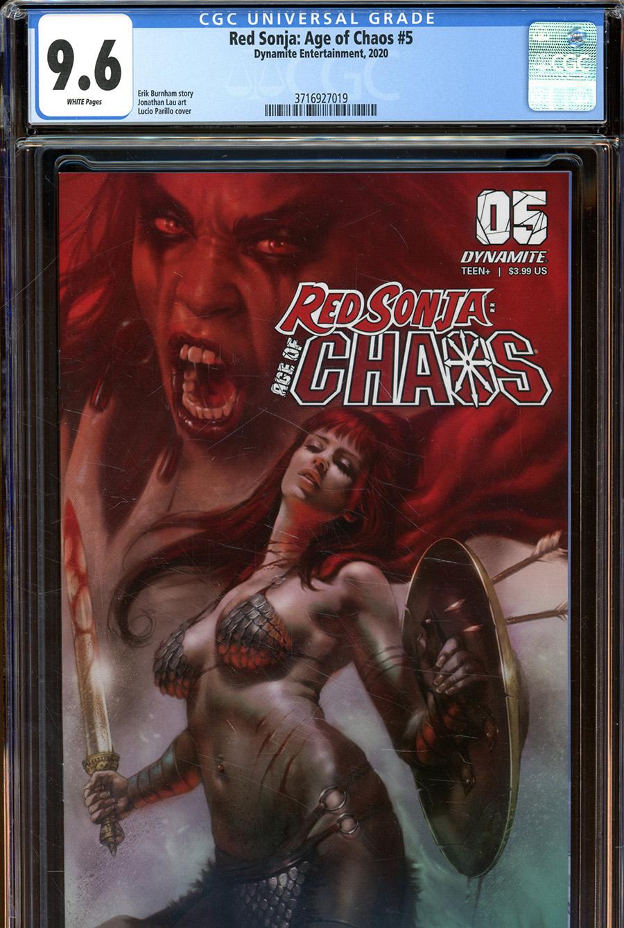 Red Sonja Age Of Chaos #5 Cover X Regular Lucio Parrillo Cover CGC