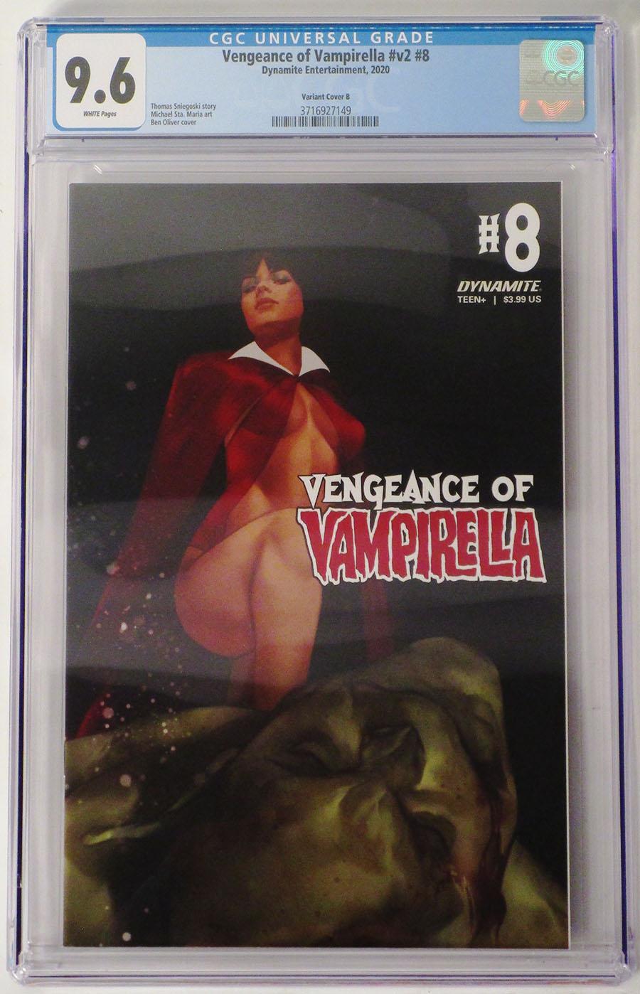 Vengeance Of Vampirella Vol 2 #8 Cover P Variant Ben Oliver Cover CGC Graded