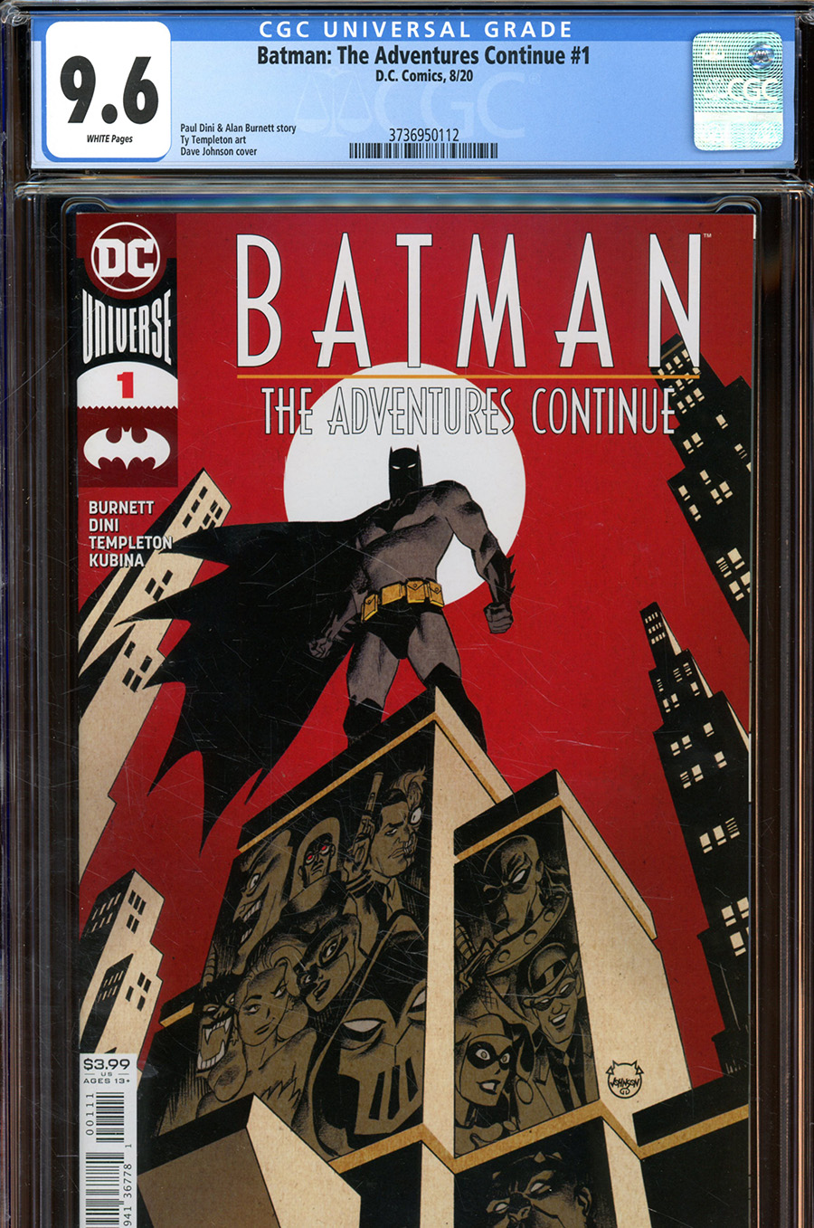 Batman The Adventures Continue #1 Cover F DF CGC Graded
