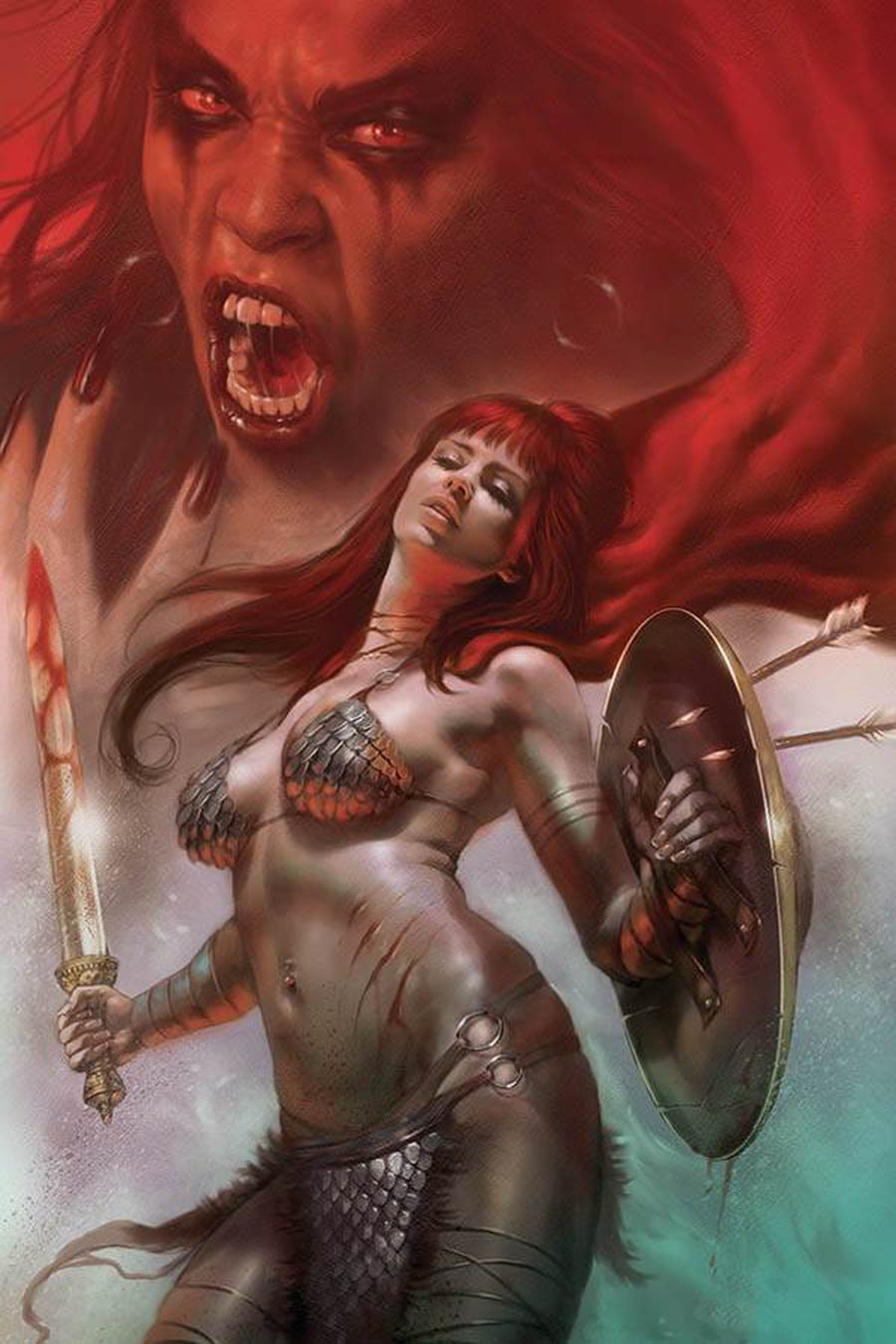 Red Sonja Age Of Chaos #5 Cover T Limited Edition Lucio Parrillo Virgin Cover