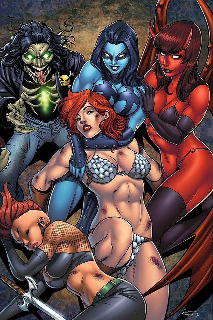 Red Sonja Age Of Chaos #5 Cover V Limited Edition Ale Garza Virgin Cover