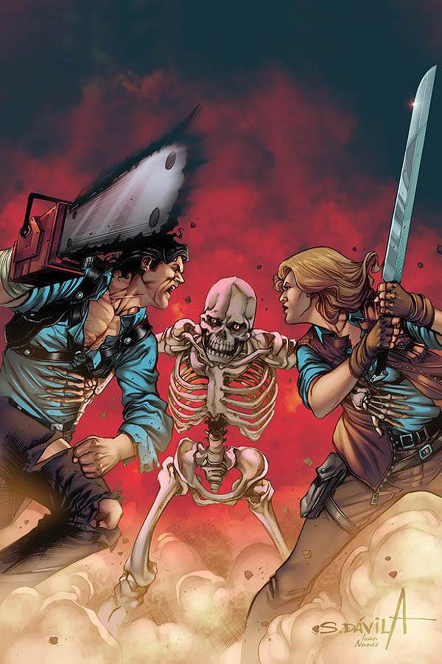 Death To The Army Of Darkness #4 Cover O Limited Edition Sergio Davila Virgin Cover