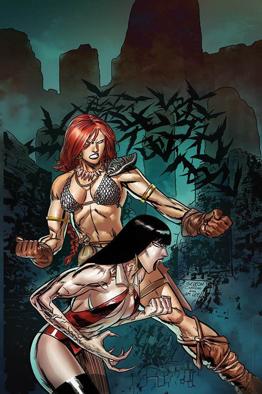 Vampirella Red Sonja #9 Cover T Limited Edition Juan Gedeon Jim Lee Homage Virgin Cover