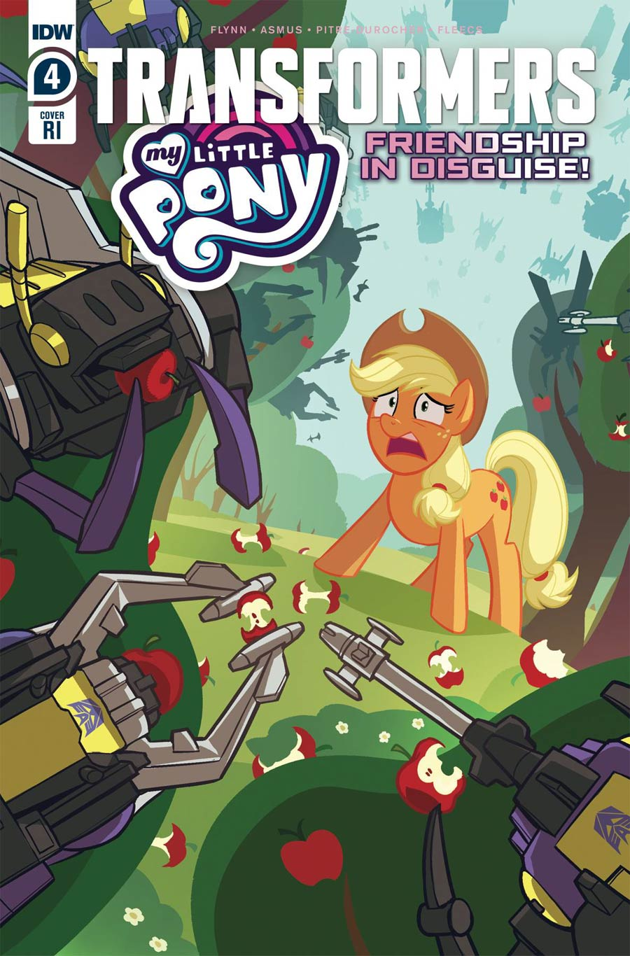 My Little Pony Transformers Friendship In Disguise #4 Cover B Incentive Sara Pitre-Durocher Variant Cover