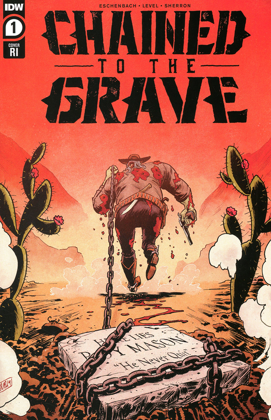 Chained To The Grave #1 Cover B Incentive Brian Level Variant Cover