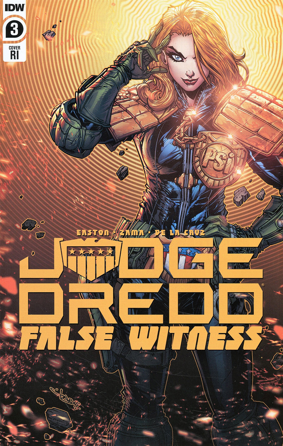 Judge Dredd False Witness #3 Cover B Incentive Jonboy Meyers Variant Cover