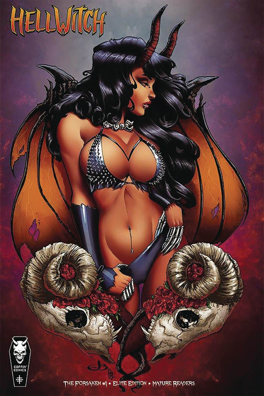 Hellwitch Forsaken #1 Cover E Incentive Jenevieve Broomall Elite Edition Variant Cover