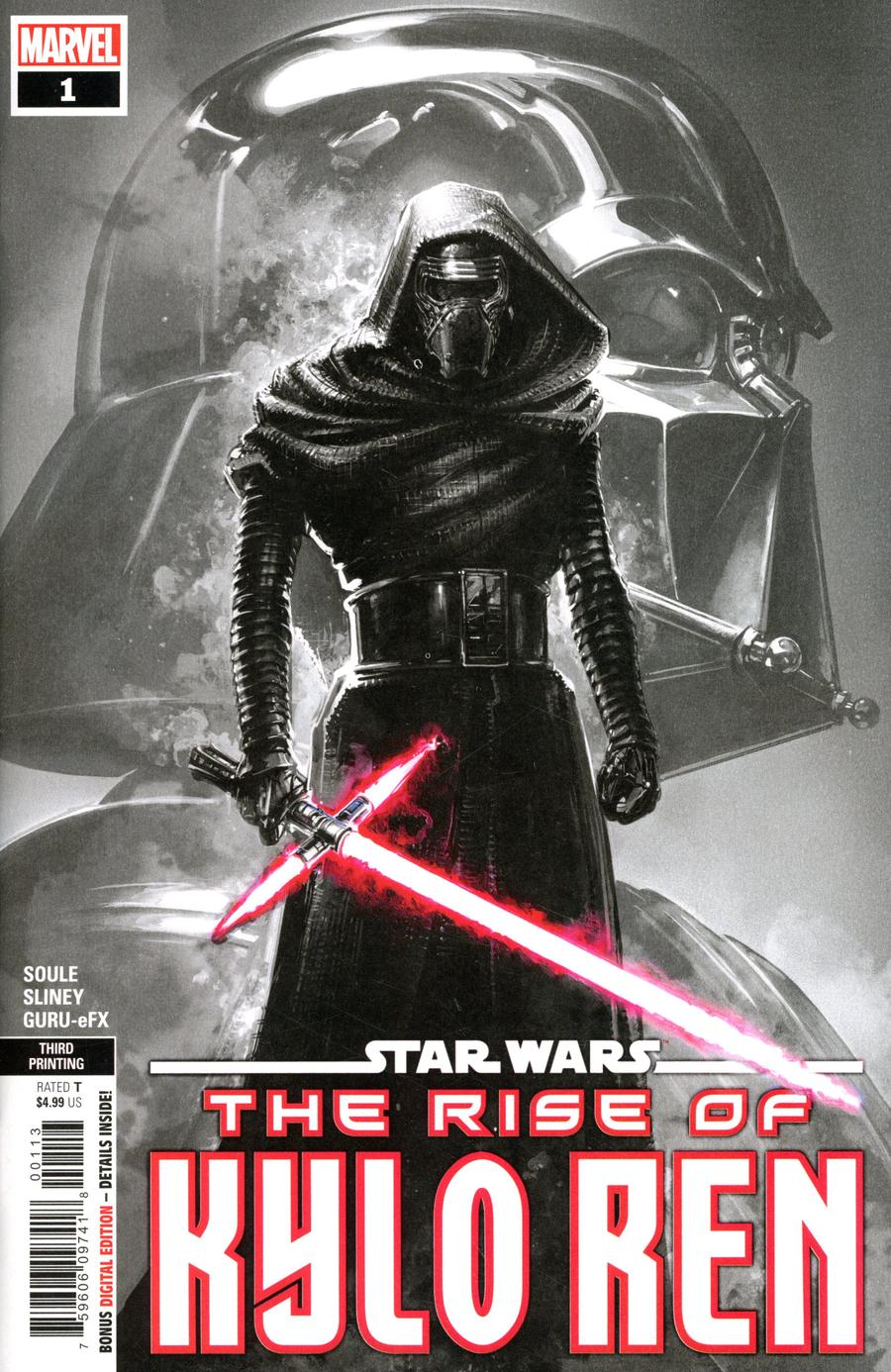 Star Wars Rise Of Kylo Ren #1 Cover G 3rd Ptg Clayton Crain Variant Cover