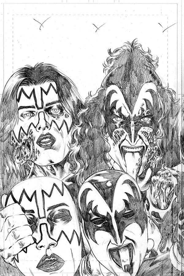 KISS Zombies #4 Cover H Incentive Rodney Buchemi Pencils Cover