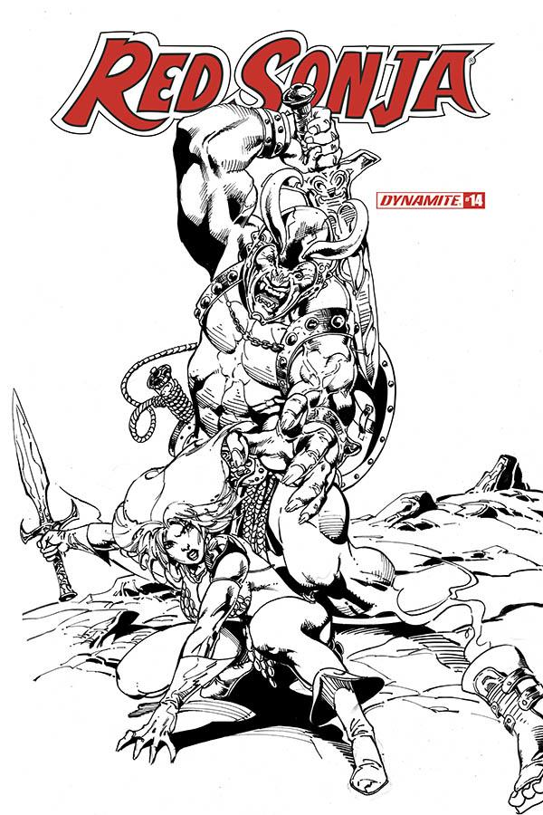 Red Sonja Vol 8 #14 Cover I Incentive Roberto Castro Black & White Cover