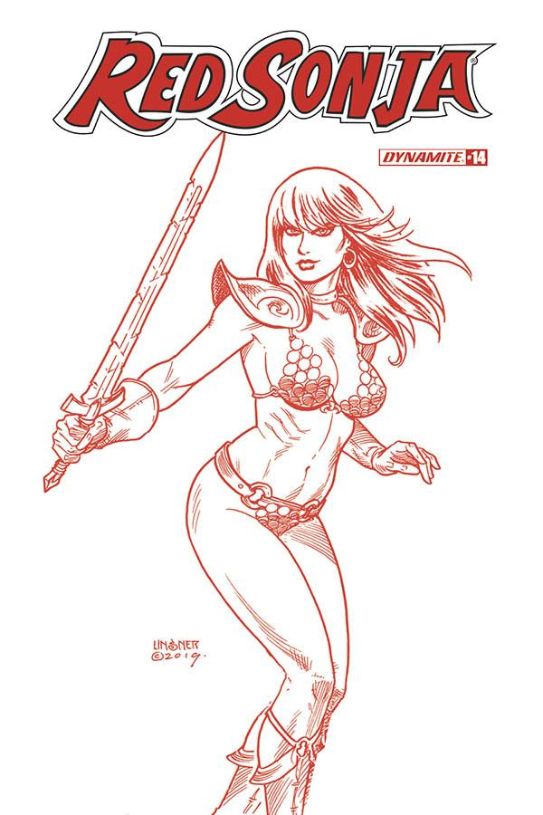 Red Sonja Vol 8 #14 Cover N Incentive Joseph Michael Linsner Tint Cover